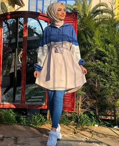 Image may contain: 1 person, standing and outdoor Modest Fashion Hijab, Pakistani Fashion Casual, Modern Hijab Fashion, Street Hijab Fashion, Hijab Fashion Inspiration, Muslim Fashion, Fashion Fashion, Fashion Outfits, Hijab Elegante
