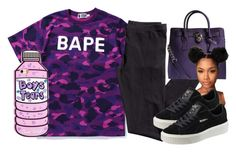 """""""Hanging Halfway Off The Balcony 😈"""" by httpsydney on Polyvore featuring A BATHING APE, H&M, Michael Kors and Puma"""