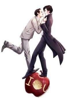 Sherlock and Moriarty fan art.