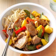 Pork & Mango Stir-Fry Recipe