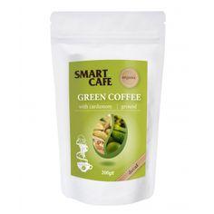 Cafea verde Arabica macinata decofeinizata cu cardamom Bio disponibila prin comanda online pe www.greenboutique.ro
