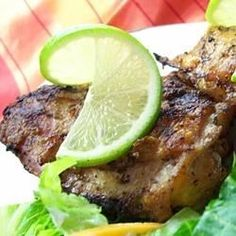 A lime-tarragon marinade for juicy flavorful chicken pieces - moist and delicious. I like to  marinate the pieces and cook them on the grill for a nice summer meal.