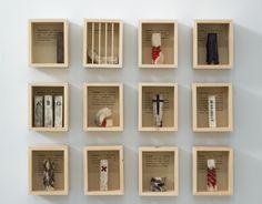 Serie de esculturas de M.A.Gil Andaluz empleadas para realizar el libro de artista.
