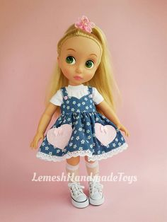 Disney Animator Dolls Clothes. Doll clothes for Disney Animator 16'. Set of item 3.