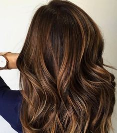 Brunette+bayalage+with+highlights+and+low+lights+-+60+Great+Brown+Hair+With+Blonde+Highlights+Ideas Brunette Color, Ombre Hair Color, Cool Hair Color, Brown Hair Colors, Carmel Hair Color, Winter Hair Colors, Trendy Hair Colors, Colour Melt Hair, Carmel Ombre Hair