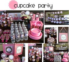 Cupcake party tablescape