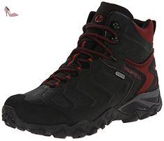 Merrell Chameleon Shift Mid Gtx, Chaussures de randonnée basses homme, Black/Red, 42 - Chaussures merrell (*Partner-Link)
