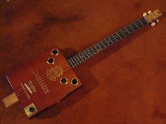 Weeklyhouse Cigar Box Acoustic Electric Guitar 4 String Y Watch A Video Demo | eBay