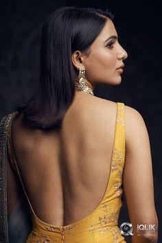 Indian Bollywood Actress, Indian Actresses, Bollywood Girls, Beautiful Girl Indian, Beautiful Indian Actress, Samantha Photos, Samantha Ruth, Saree Backless, Bollywood Designer Sarees