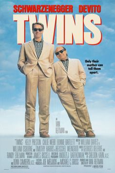 Twins is a 1988 comedy film, produced and directed by Ivan Reitman about unlikely twins (played by Arnold Schwarzenegger and Danny DeVito) who were separated at birth. The core of the film is the relationship between DeVito's streetwise character and Schwarzenegger's intellectual persona.