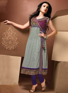Shop now all the latest Kurti designs for women. Explore Cbazaar's huge collection of party wear and casual wear Indian Kurtis featuring a huge variety. Kurtha Designs, Designer Kurtis Online, Angrakha Style, Latest Kurti, Indian Suits, Neck Design, Party Wear, Casual Wear, Designer Dresses