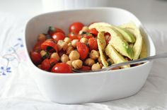 chick pea and cherry tomato salad