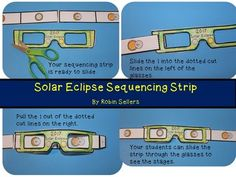 Solar Eclipse Sequencing Strip Craft with Eclipse Glasses as the viewer
