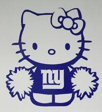 hello kitty cheerleader | Hello Kitty Cheerleader New York Giants Car Window Vinyl Decal Sticker