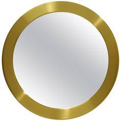 Round Brass Mirror From Glasmäster Markaryd, Sweden, Circa 1960 Round Brass Mirror, Mirror Glass, Mirrors, Flower Border Png, Cool Backgrounds, Packaging Design Inspiration, Art Logo, Background Patterns, Cool Furniture