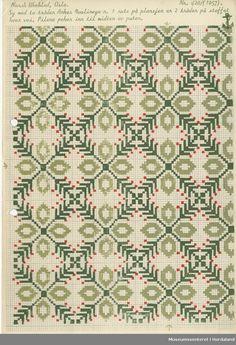 Trykt mønsterark i A4-format til brodert tekstil.