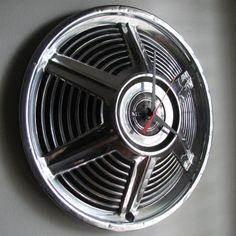 1965 Ford Mustang Hubcap Clock, $55