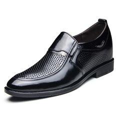 2015 slip on elevator business sandals 7cm / 2.75inch calfskin height taller formal loafers