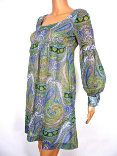 http://www.huzzarhuzzar.com/collections/all-products/products/beautiful-60s-psychedelic-paisley-print-mini-dress-by-polly-peck