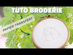 TUTO BRODERIE : Comment transférer un dessin pour de la broderie ? - YouTube