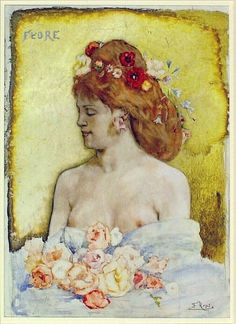 'Flore' (late 19th century) by Félicien Rops