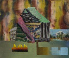 """David La France Earthship studies, 4x6, oil on canvas, 2015 """