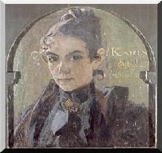 Karin's Portrait on the sliding door