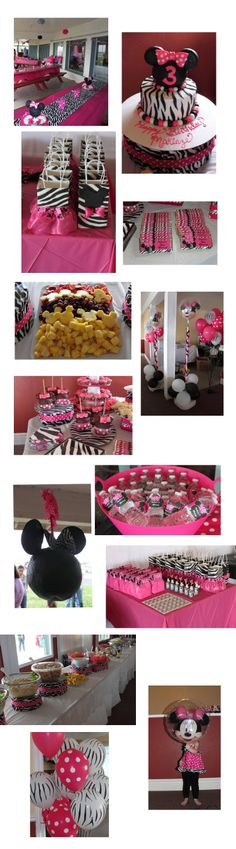Hailey's having a Minnie Mouse Zebra Party so I love this!