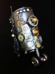 Steampunk R-2 D-2 by Spaceboy Robot. I'm in love.