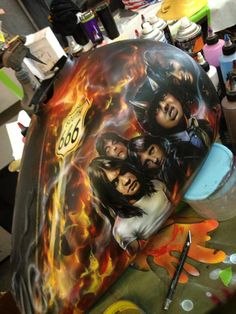 Airbrushed AC/DC Motorcycle - Painted by Mike Lavallee of Killer Paint - www.killerpaint.com