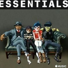 Gorillaz and Apple have teamed up to make a new playlist! Here's the cover art. Essentials