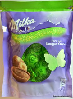Milka fine eggs made from delicate Alpine milk chocolate with fine nougat cream filling, a delight for lovers of nougat. Store cool and dry.… Snack Recipes, Snacks, Easter Candy, Chips, Delicate, Lovers, Chocolate, Cream, Store