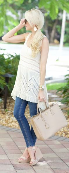 Lace Trim Tunic by A spoonful of Style