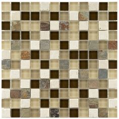 Somertile Reflections Square 1-inch Nassau Stone and Glass Mosaic Tiles (Pack of 10)   Overstock.com
