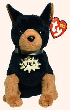 Luca, Ty Beanie Baby dog reference information and photograph. Beanie Baby Dog, Beanie Boo Dogs, Beanie Buddies, Ty Beanie Boos, Ty Babies, Baby Dogs, Ty Plush, Cuddle Buddy, Vintage Teddy Bears