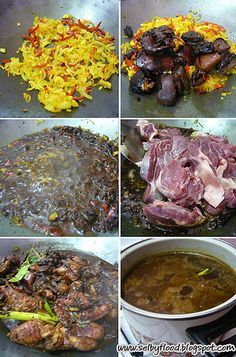 Cooking Rawon a traditional food from East Java.