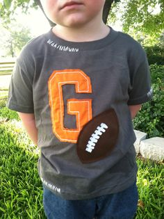 Vintage Look Football Shirt by ModernMonograms on Etsy, $28.00