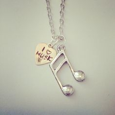 Music note necklace...I have one of these without the heart pendant