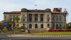 Municipal Council Building in Maputo, Mozambique Maputo, African Nations, Cape Verde, Colonial Architecture, Zimbabwe, Africa Travel, Mauritius, Ant, Homeland