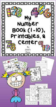 My Number Book 1-10. Have students practice writing their numbers, number recognition, and number representation in a variety of ways!  Includes follow up printables and a number puzzle center!