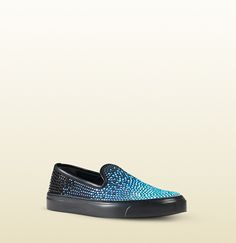 Gucci - crystal satin slip-on sneaker 370506KPQ104570