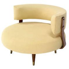 Mid-Century Modern Round Swivel Lounge Chair by Adrian Pearsall - You could recover this in an up to date fabric, make it a sexy chair!
