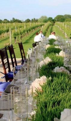 vinyard + grass centerpiece