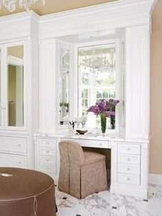 Image result for built in dressing table