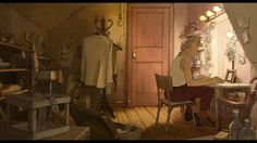 The Illusionist (2010), directed by Sylvain Chomet, based on an original script written by the great Jacques Tati.    Source: http://www.cinemasquid.com/blu-ray/movies/screenshots/sets/the-illusionist/71ccf6e8-0e69-413f-a543-c17bbcb16f09