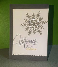 Stempeltatze, Weihnachtskarte, Christmas Card, Merry Christmas