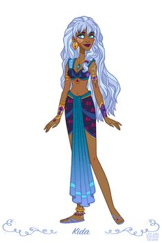 "Kida from ""Atlantis: The Lost Empire"" - Art by Lee Ann Dufour Design"