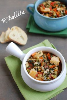 Ribollita - the perfect way to use up stale bread! Easily make it gluten-free or vegan!