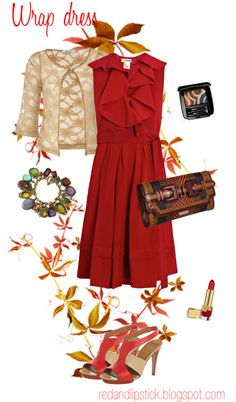 """Best dresses for Body type As"" : a deep autumn outfit for pear shapes"