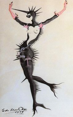 "1939 Salvador Dali ""Dream of Venus"" or ""Mermaid in Black"""